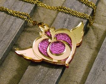 SailorMoon Crisis Moon Compact Acrylic Necklace