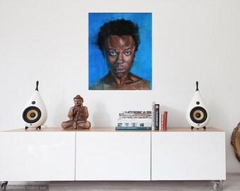 Figurative original painting, portrait, contemporary art, modern painting, wall art