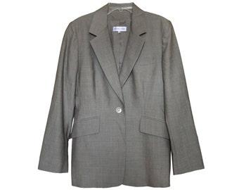 Vintage Gerard Darel women blazer grey size 40 100% virgin wool