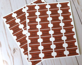 Brown Leather Look 1 inch Bible Tabs