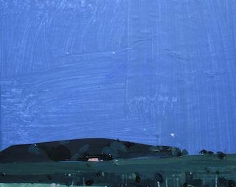 Across, Original Summer Landscape Painting on Panel, Framed, Stooshinoff