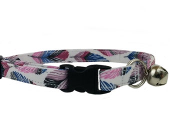 Southwest Inspired - Colorful Feathers Safety Breakaway Kitten or Cat Collar
