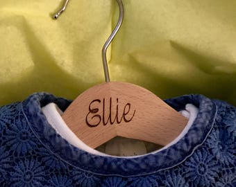 Personalised Wooden Child's Clothes Hanger