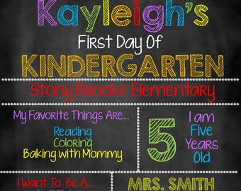 First Day of School Pencils Sign, First Day of School Chalkboard