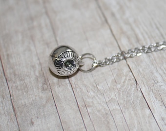 """Eyeball / Eye Charm Necklace / Stainless Steel Chain-Choose 17.5"""" or 19.5"""" / Antique Silver Charm / Packaged Gift / Can Be Personalized"""