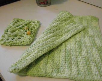 Soap Sak and Washcloth Set