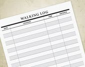 Walking Log Printable PDF...
