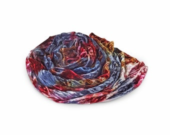 Velvet scarf, blue brown burgundy velvet scarf, velvet scarves, trending now, best selling items, crinkle velvet, womens scarves, scarfs