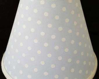 Blue and White Dot Lamp Shade