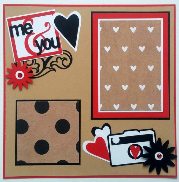 Couples Scrapbook Page Boyfriend Scrapbook Valentines Day