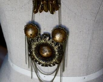 Golden Spheres Necklace