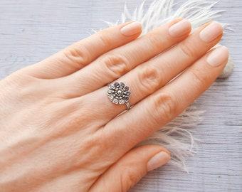 Vintage wedding ring Art deco ring Sterling silver ring Vintage Silver rings Vintage rings Silver ring Vintage jewellery ring Minimal ring