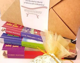 Harry Potter Bath Bombs Gift Set - All Natural Bath Fizzer - Harry Potter gift - Handmade Aromatherapy BathBombs - Vegan Bath Bombs