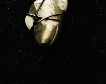 triple tier Snowflake Obsidian necklace