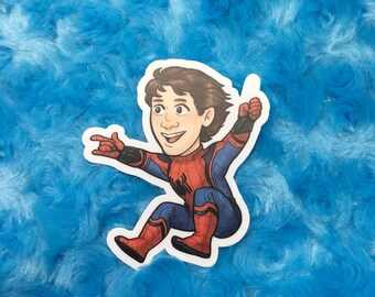 "MCU Spiderman Peter Parker 3"" vinyl sticker"