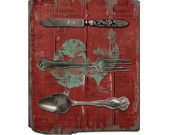 Farmhouse Knife, Fork, Spoon Sign