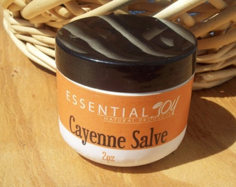 Cayenne Salve. 2 oz. Herbal Salve.  Arthritis Salve. Soothing. Pain relief.  Muscle rub. Runners Gift