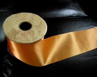 Vintage Halloween Orange ruban sur noyau originel, dit 50 verges sur l'étiquette
