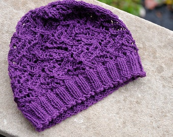 Night Jasmine Lace Hat Pattern - One Skein -  PDF - Digital Download - Tech edited and tested