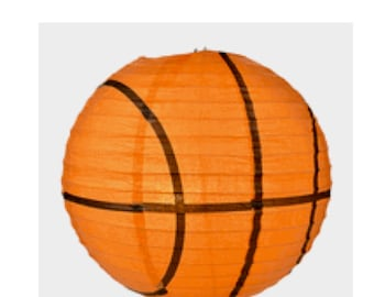 """Basketball 14 """" Hanging Paper Lantern ....Man Cave....Sports Decor....Birthday Parties......Basketball Party....."""