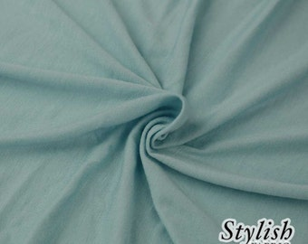 Robin's Egg Light-weight 160 GSM Rayon Spandex Jersey Knit Fabric by the Yard - 1 Yard Style 13390