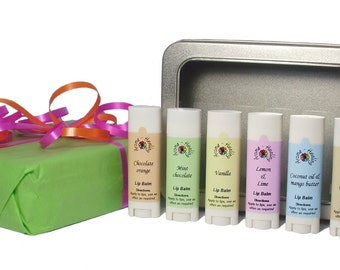 Lip Balm Gift Set Box | Flavoured Lip Balms | Lip Balms and Glosses | Lip Butters | Lip Moisturisers | Gift Ideas