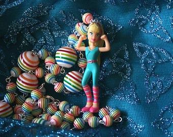 Aerobic Barbie necklace