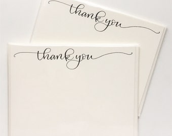 Thank You notes - thank you cards - letterpress thank you notes - calligraphy cards  - wedding thank you card pack