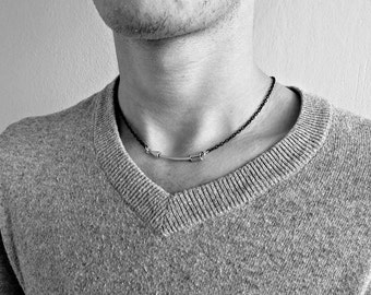Arrow Necklace, Pendant, Men's Silver Necklace Pendant, Mens Jewelry Mens Gift
