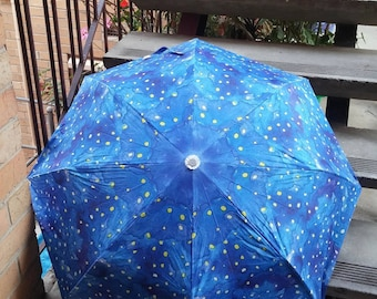 Folding umbrella 'Glowing' - Abstract watercolor design