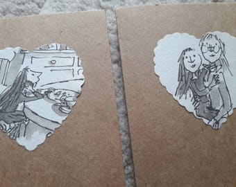 Set of 5 Small 'Matilda' Cards - Roald Dahl - Literary Gift Cards - Just a Note to Say....