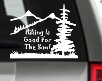 Hiking Decal, Rather Be Hiking, Hike Decal, I Love Hiking, Vinyl Decal, Hiking Decor, Hike, Car Decal, Window Decal, Hiking Good For Soul
