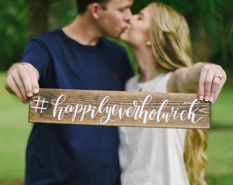 Custom Hashtag Sign - Wedding Hashtag Sign - Wood Signs - Wedding Sign - Bridal Shower Sign - Hashtag - Wedding Gift - Engagement Sign