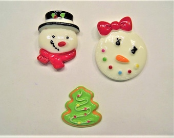 Christmas Cabochons Choose one of three kinds, 10Ct