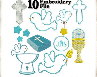 EUCHARIST CUTE -10 Embroidery File - Machine Embroidery Design