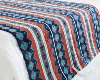 Fleece Fabric Nordic Blue By The Yard