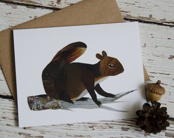 Squirrel  Card of Original Collage