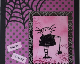 Happy Creepy Halloween card