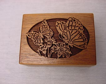 Vintage Lasercraft Walnut Musicbox Butterflies You Light Up Your Life Collectible