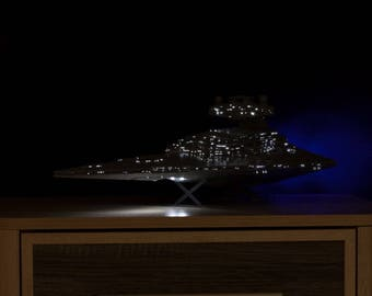 Lighting system for Star Wars Imperial Star Destroyer model kit ZVEZDA 9057 or Revell 85-6459 in BOX (with additional RED led)