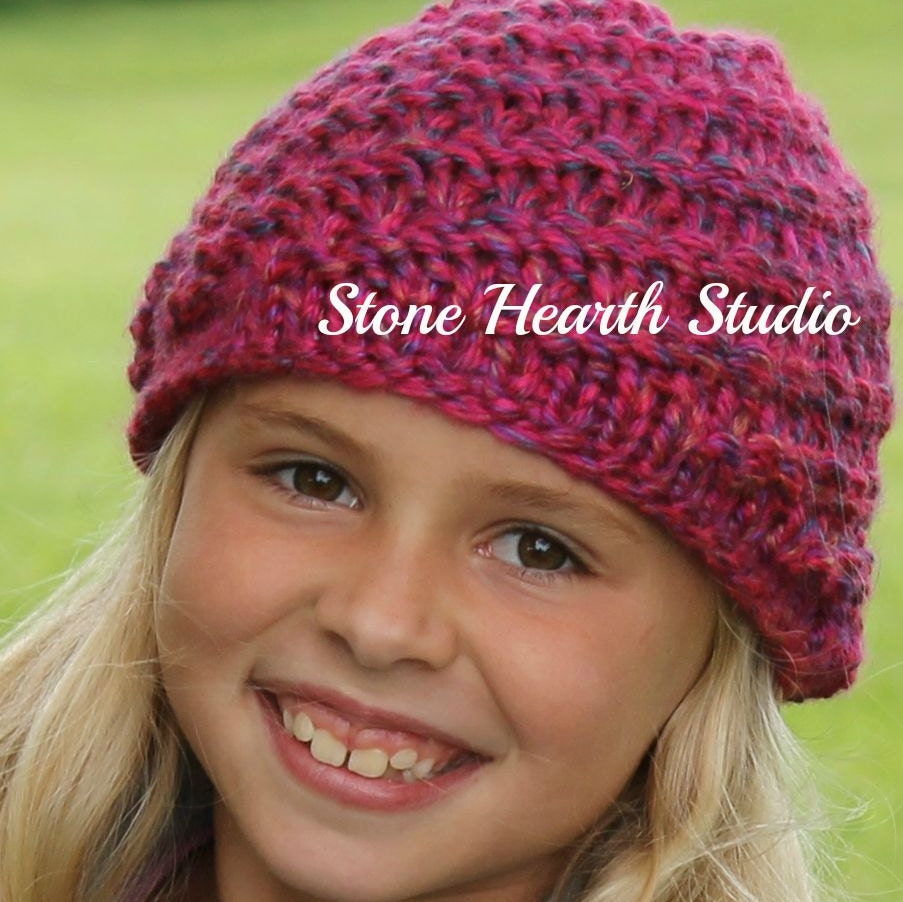 Riley Beanie,Knitted Hat Pattern,Fast and Easy!,Stretchy,Diagonal ...