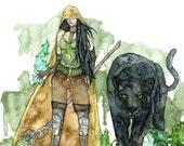Watercolor Druid Print - ...