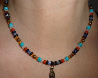 Viking Seed Bead Necklace - SB6 v