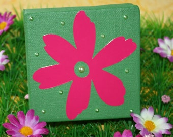 Mini table 3D flower 10 cm * 10 cm