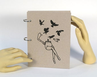 Blank Journal - 5 in x 7 in : Mannequin - Black Birds