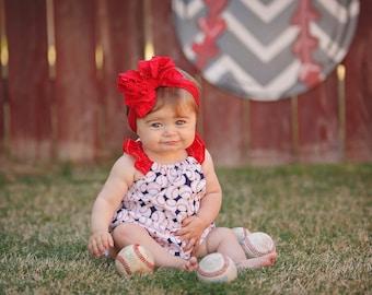 Baseball Romper, Baseball Sister, Baby Girl Romper, Girl Baseball Outfit, Summer Romper, Bubble Romper, Baseball Outfit, Toddler Romper