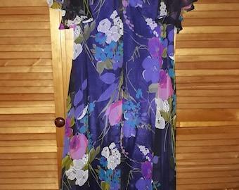 Flowy vintage maxi dress made by Hilltower Melbourne