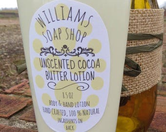 moisturizing – cocoa butter – unscented – body lotion – gifting – gift for her – all natural – toxin free – skin care