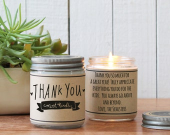 Thank You Most Kindly Candle Greeting - Thank You Gift | Appreciation Gift | Teacher Appreciation Gift | Candle Gift | Thank You Card