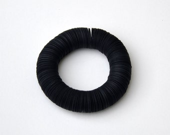 Statement Bracelet - made of black paper - CARTA